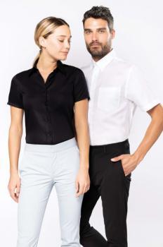 Dámská košile s krátkým rukávem v nežehlivé úpravì