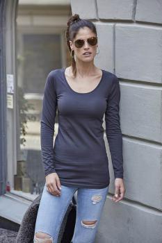Dámské streèové trièko dl. rukáv Tee Extra Lenght - Výprodej