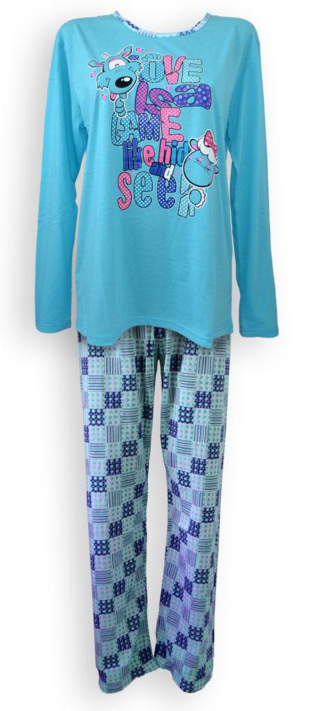 Dámské pyžamo - dlouhý rukáv - zvìtšit obrázek