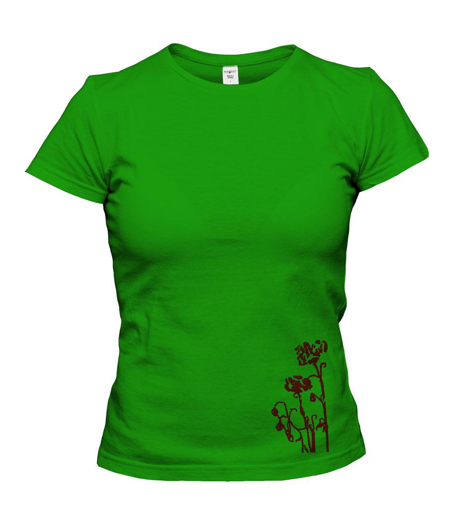 Dámské trièko - potisk motivu kvìtin - zvìtšit obrázek